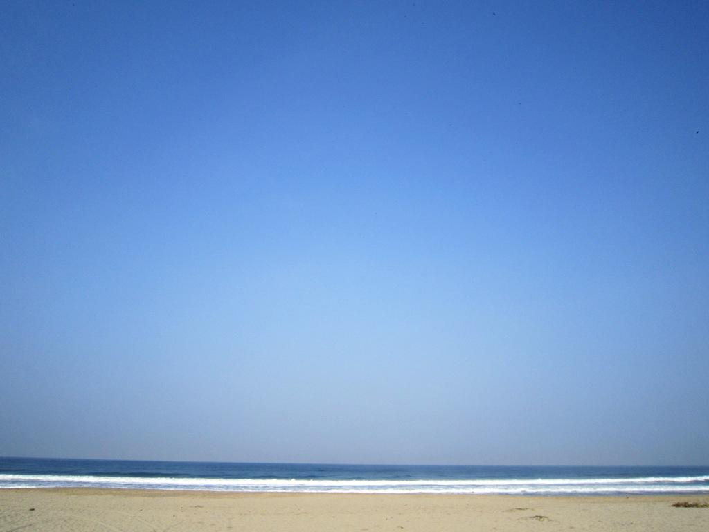 Pantai Sawarna di Pagi Hari