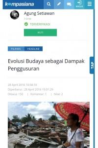 Jadi Headline di Kompasiana, tampil di rubrik HUMANIORA